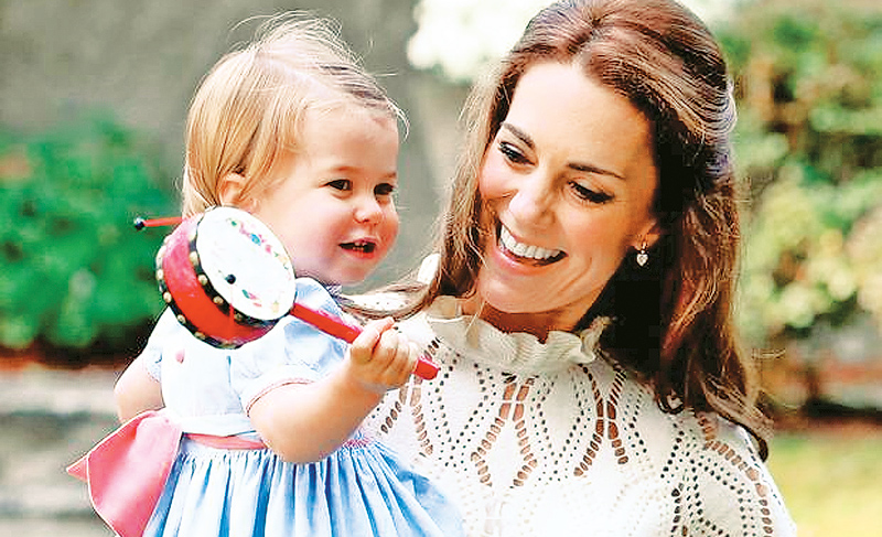 Princess Charlotte with her mother Kate