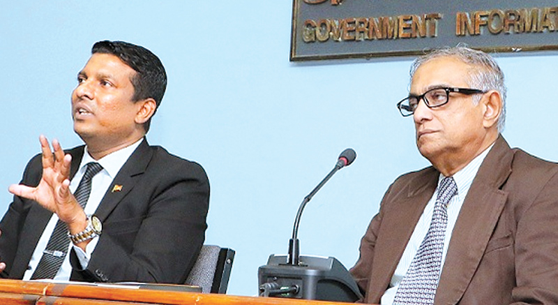 Coordinating Secretaries to the President, Rajika Kodituwakku and A. N. R. Ameratunge. Picture by Saman Sri Wedage