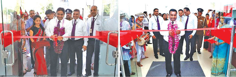 Director and  CEO  Kapila Ariyaratne  opening the Wariyapola branch and Deputy General Manager Chithral De Silva,  opening the Aluthgama branch.