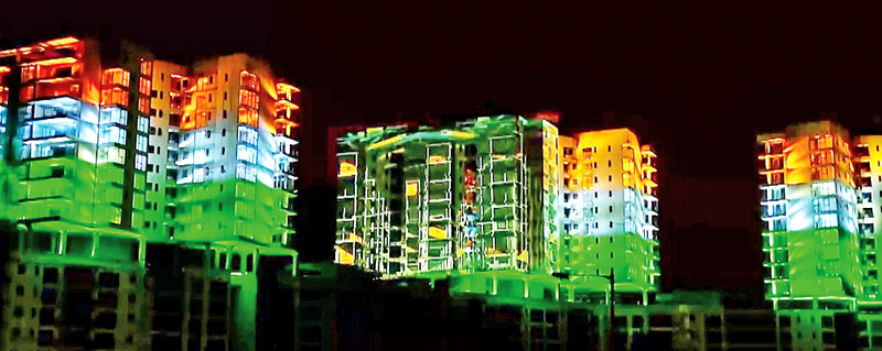 Production of projection mapping content commissioned by Swordfish Events for Indian Independence Day 2017 in Bangalore.