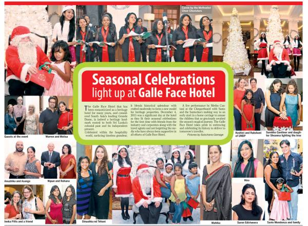 seasonal celebrations light up at galle face hotel daily