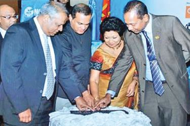 Ramal Jasinghe was appointed as the President of the National Chamber of Exporters of Sri Lanka at the 22 Annual General Meeting held on Tuesday in Colombo. Here NCE President Ramal Jasinghe, Assistant Secretary, Ravi Jayawardena, Vice President Ramya Weerakoon and Secretary General Shiham Marikkar launching the logo and Application for the 25th Annual NCE Export Awards. Picture by Saliya Rupasinghe