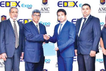 EDEX Sponsorships Director Nishan Jayalath, EDEX Secretary Sudheera Senaratne,   Royal College Union  Secretary Athula Munasinghe, EDEX Chairman Mahinda Galagedara, ANC CEO and Executive Director Dr Punarjeeva Karunanayake, ANC Director and Group Chief Financial Officer  P. Saravanan, ANC Director and Chief Operating Officer Aruni Mahipala,ANC US University Programs Senior Manager Ramesh Ramkumar and ANC Senior Marketing Manager Chandima Garumanna.
