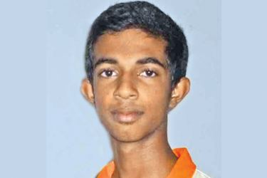 Lumbini College's bowler Vimukthi Kulatunge who took a match bag of 10 wickets against Prince of Wales.