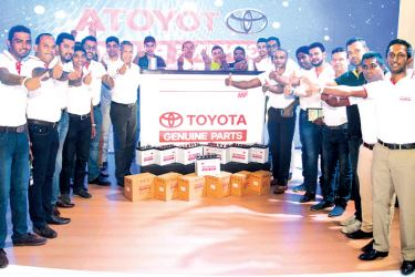 The Toyota Lanka team at the Toyota Genuine  Battery launch.