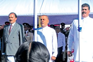 Minister Mahinda Amaraweera participating in the  Indipendence Day celebration in Hambantota