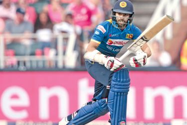Sri Lanka opener Niroshan Dickwella plays a shot on the leg side during his innings of 74 in the third ODI against South Africa at Johannesburg on Saturday. AFP