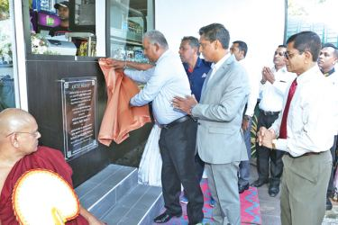 Waters Edge Chairman Chamath de Silva opening the welfare shop.