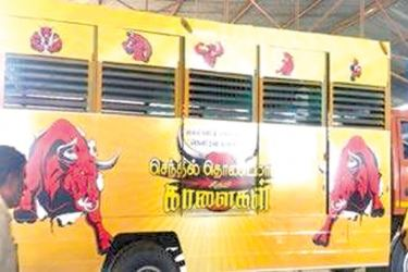 A caravan with air-conditioning facility for M Senthil Thondaman's bulls - The Asian Age