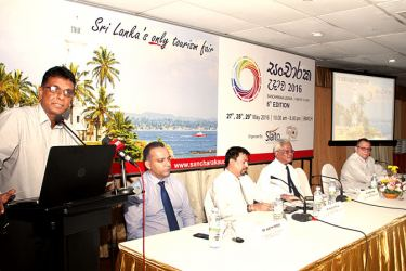 An official addressing the event.