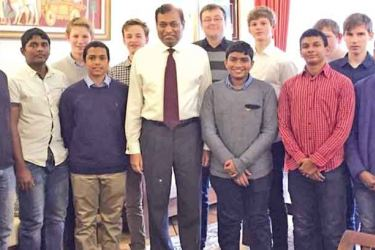 Sri Lankan Ambassador in Germany with the students
