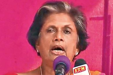 Former President Chandrika Bandaranaike Kumaratunga addresing the gathering