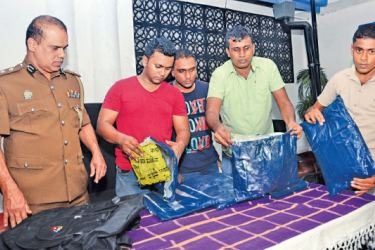Some of the seized heroin.  Picture by Vimal Karunathilake.