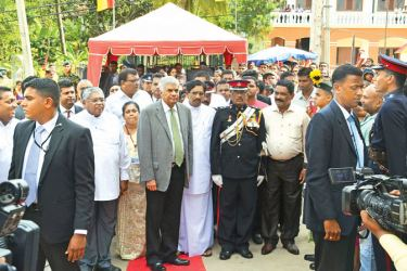 Prime Minister Ranil Wickremesinghe at the 150th anniversary celebrations of Kegalle St. Mary's Maha Vidyalaya on March 5 as its chief guest