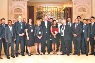 The Trade delegation from New Zealand together with members of the Ceylon Chamber of Commerce and India, Middle East and Africa for New Zealand Trade and Enterprise Regional Director, Tony Martin.