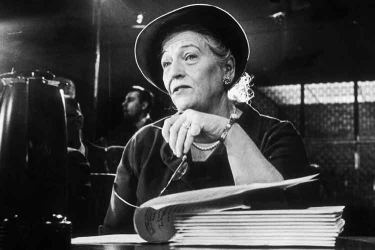 American author Pearl S. Buck testifies before the Senate subcommittee on new uses for Ellis Island, New York City, in Washington DC. Picture by Neal Boenzi