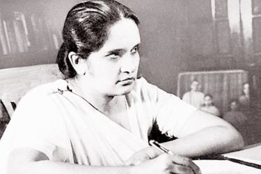 World's first woman Prime Minister,  Sirimavo Bandaranaike