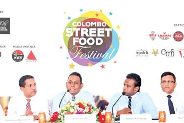 HNB Head Of Marketing Chammika Weerasinghe, Director Sri Lanka Tourism Chandana Wijerathna, Group CEO / Director Imal Fonseka, CEO Lifestyle Sector Rajeeve Kulatunge, CEO - City Food Arcade Suvi Wijayartna and  EGB Head Of marketing Beverages Sathish Rathnayake.