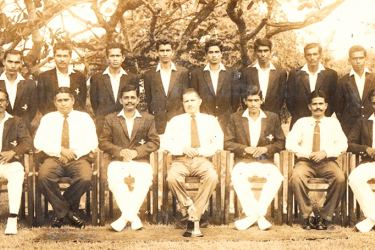 Adastrians  CC  Division  Two  Cricket  Pool  1966/1967  Seated (from left): Donald Perera, Gr. Capt. P. H. Mendis (President RCyAF Sports Board), Charlie Amrasinghe (Vice Captain), Air Vice Marshall Rohan Amarasekara (Commander of Royal Ceylon Air Force), K. M. Nelson (Captain), Sqn.Ldr S. Luvelyn Fernando (Command Cricket Officer), Norbert Fernando Standing (from left): K. S. S. P. Silva, W. S. Silva, Mohamed Faleel, Dilwin Mendis, Nimal Cooray, Sarath Fernando, Hemasiri Fernando, Wilfred Basnayake,  Abse