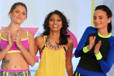 Rum Punch Co-Founder and Chief Designer Rukshika Fernando Seneviratne with models