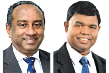 Chairman Ronald Perera and GM D.M.Gunasekera.