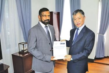 Trincomalee Consultations final report including the study of Bay of Bengal further enhancement of cooperation handed over to Kenichi Suganuma Ambassador of Japan in Sri Lanka by Admiral Dr. Jayanath Colombage recently.