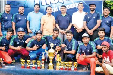 The winners of 'Kelani Challenge Trophy – 2017', Melwire Rollings Company cricket team with Kelani Cables PLC top management