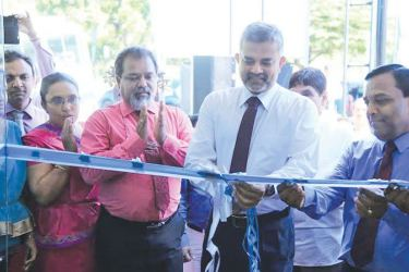 RDB ChairmanPrasanna Premaratne  at the opening of the modernized branch.