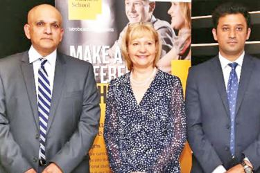 Professor Paul Mather, Head of La Trobe Business School (LBS), Dr. Geraldine Kennett, Department of Management and Marketing, Amit Malhotra, Associate Director at the event. Picture by Saliya Rupasinghe