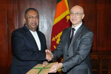 UNODC Representative presenting credentials to the Foreign Affairs Minister