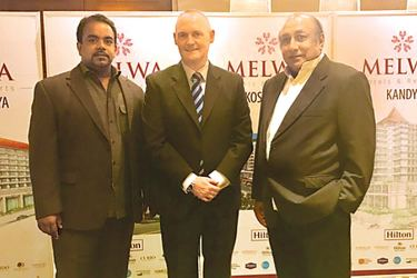 Migara Alwis, DirectorDesign Consortium, Chairman of DCL Architect Professor, Lakshman Alwis with  officials from Melwa Hotels and  Resorts, Hilton Properties