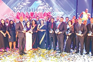Winners with the CEO of Nations Trust Bank Renuka Fernando