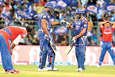 Pollard and Rohit Sharma combined to take the game away from Gujarat Lions at the end.