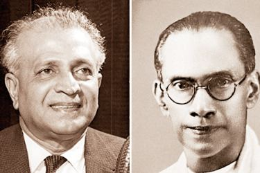 Former late leader of LSSP Dr. N.M. Perera and Former late Prime Minister S.W.R.D. Bandaranaike
