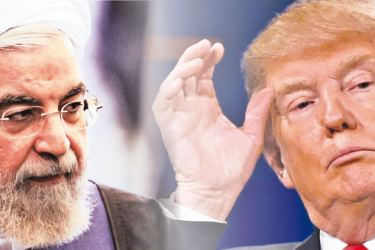 Iran President Hassan Rouhani and US President Donald Trump