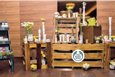 The Body Shop's new 100% vegetarian Almond Milk and Honey range showcased at the session