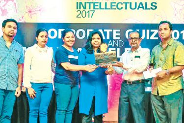 Pan Asia Intellectuals 2017 inter bank and department quiz winners.