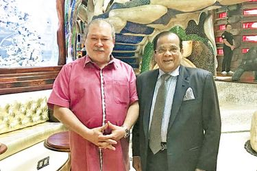 High Commissioner Muzammil with Sultan of Johor