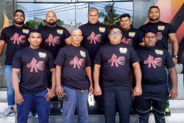 Darin Weerasinghe (back row second from left) and the men's team