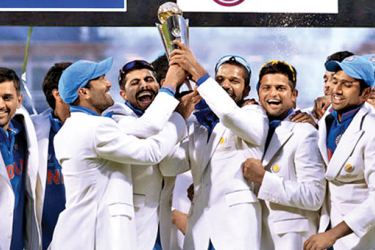 India, the defending champions of the Champions Trophy which they won in 2013.
