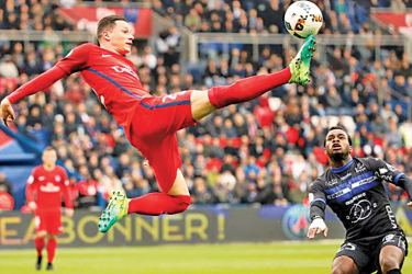 Paris St Germain's Julian Draxler in action against Bastia in the French Ligue 1 match at Parc des Princes, Paris on Saturday.