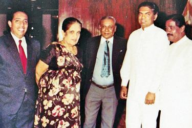 With former PM Sirima Bandaranaike