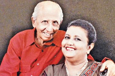 Dr Lester James Peries and Sumitra Peries during their younger days