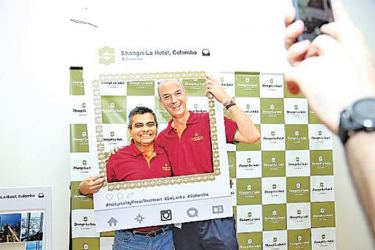 Shangri-La Colombo Vice President and General Manager Timothy Wright at the selfie booth.