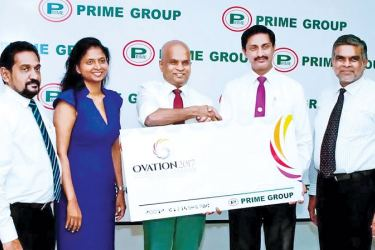 Nandana Wickramage; Group Director,  Sandamini Perera; Deputy Chairperson,  Premalal Bhrahmanage, Chairman, Prime Group; DTM Sudash Liyanage, Director - Toastmasters District 82; and DTM Zameen M Saleem, Former District Governor and Ovation 2017 Chairman.