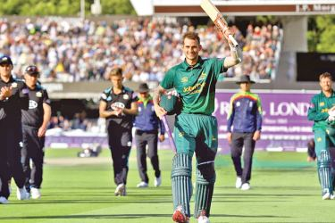 Alex Hales celebrates as he leaves the field after Nottinghamshire had beaten Surrey in the One Day Cup final at Lord's on Saturday.