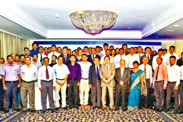 Prof. Jennifer Perera, Dean of the Faculty of Medicine, University of Colombo, Dr. R.B. Marasinghe, Head of Department of Medical Education and Health Sciences, Faculty of Medical Sciences, University of Sri Jayewardenepura, Prof. Prof. K.P. Hewagamage, Director of  University of Colombo's School of Computing (UCSC), Prof. Senaka Rajapakshe, Deputy Director of Postgraduate Institute of Medicine and other invitees at the launch
