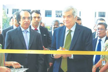 Prime Minister Ranil Wickremesinghe at the opening. Pictures by Marlon Karunaratne