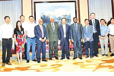 Three-member PF delegation visited Sichuan University recently. The delegation comprised Bernard Goonetilleke (Chairman), Luxman Siriwardena (Executive Director) and Admiral Dr. Jayanath Colombage, Director Centre for Indo-Lanka Initiatives of the Pathfinder Foundation