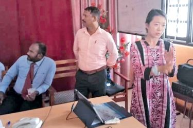JICA Representative Merina addressing the gathering. Picture by A.B. Abdul Gafoor, Ampara District Group Corr.